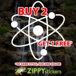 Spinning Atom Decal - Vinyl Decal Sticker - Spinning Molecules