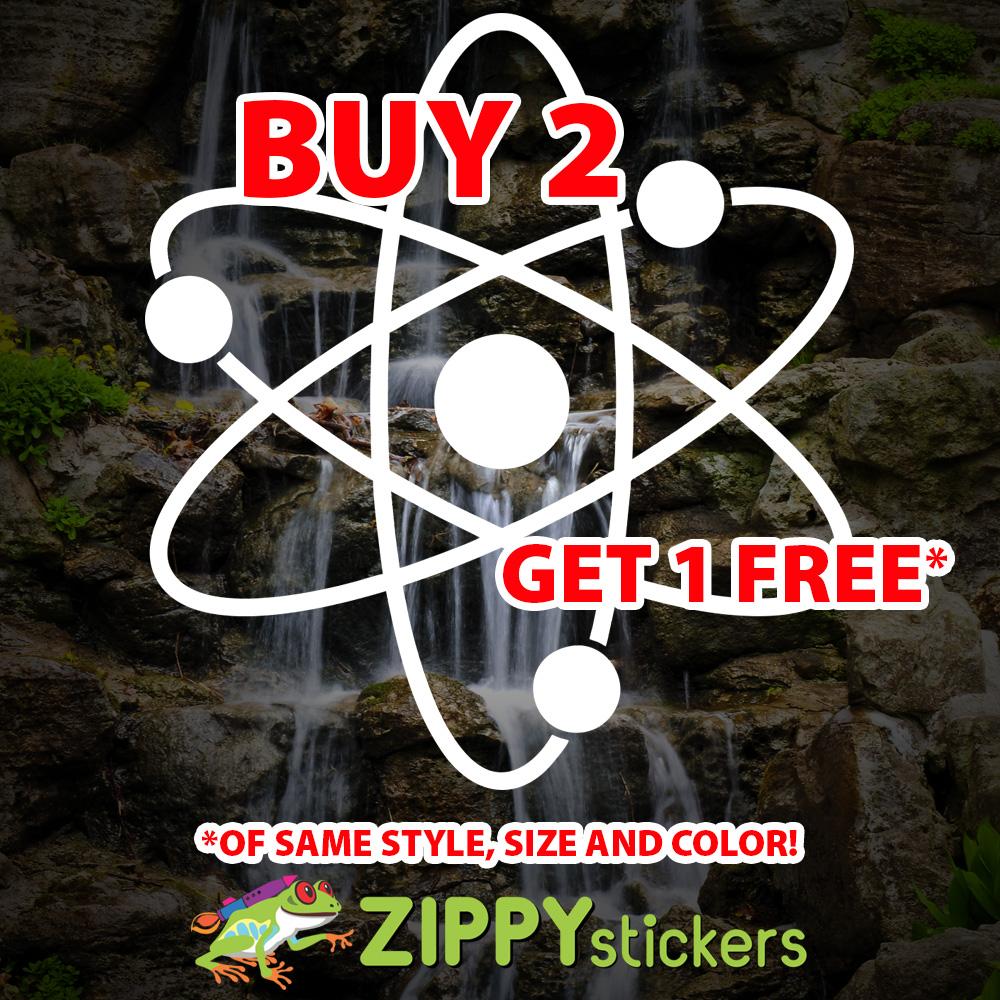 Spinning Atom Decal - Vinyl Decal Sticker - Spinning Molecules