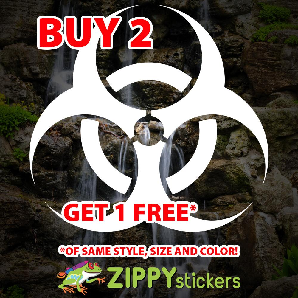 Biohazard Symbol Decal - Vinyl Decal Sticker - Biohazard Icon