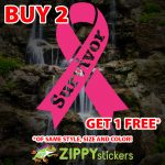 Breast Cancer Survivor Ribbon Decal - Vinyl Decal Sticker - Breast Cancer - Fight Like A Girl