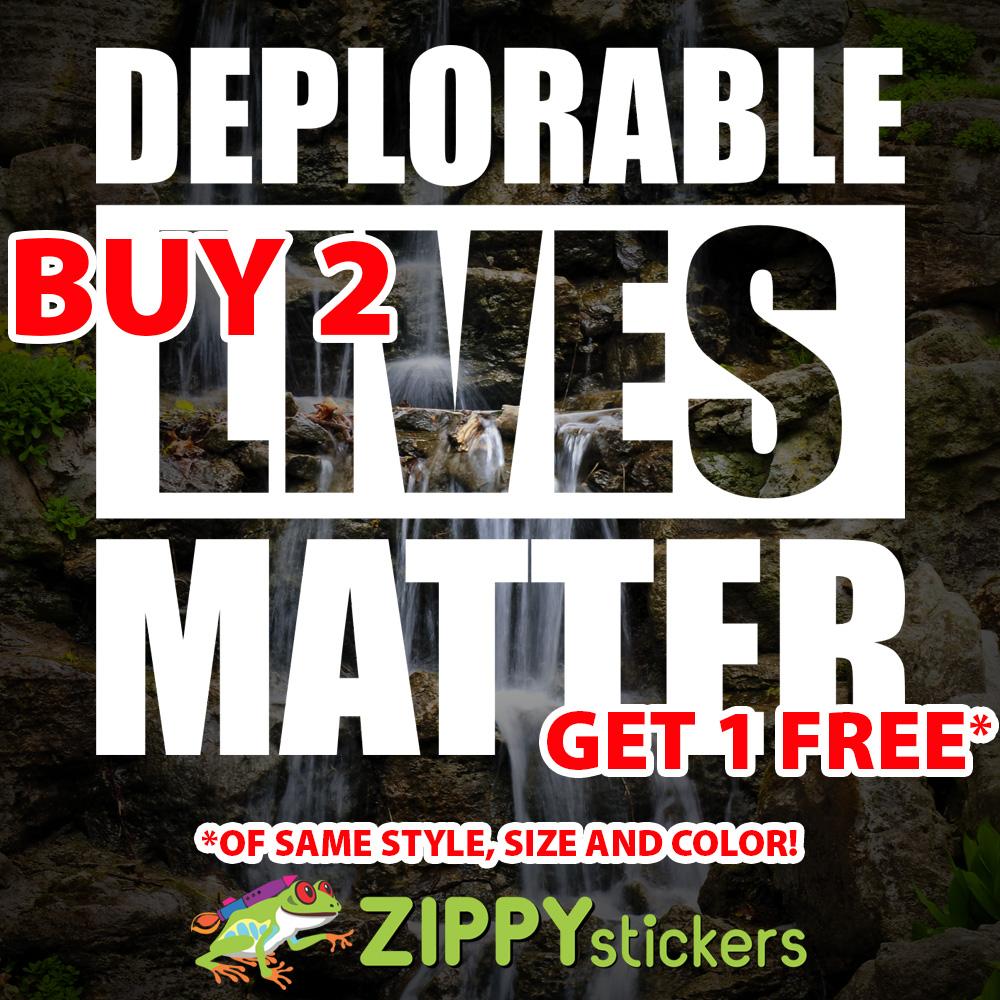 Deplorable Lives Matter Decal - Vinyl Decal Sticker - Trump Deplorable - DLM