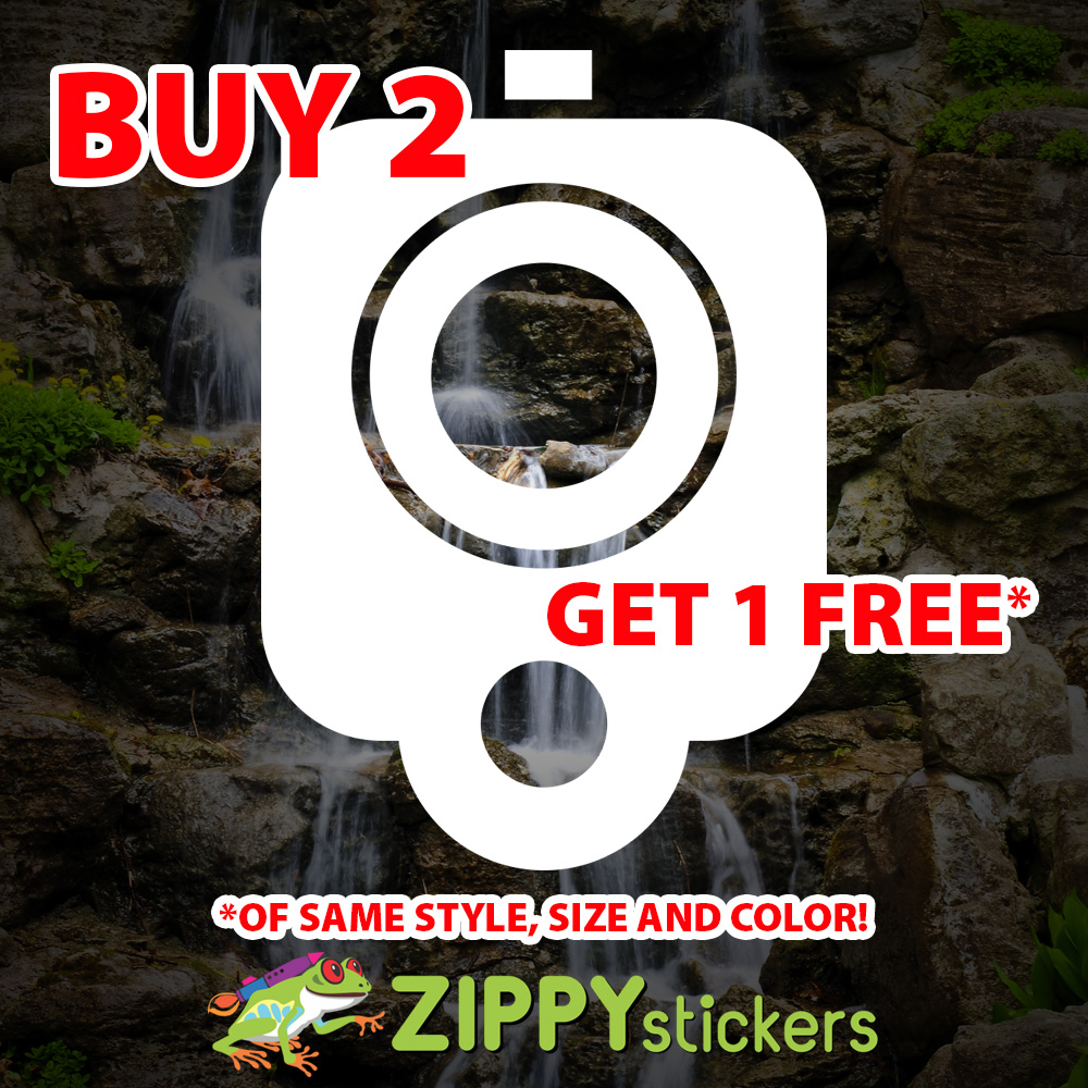 Glock Gun Muzzle Decal - Vinyl Decal Sticker - Glock Gun Barrel