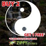 Yin Yang Decal - Vinyl Decal Sticker - Yin to Yang - Taoist - Personal Tao